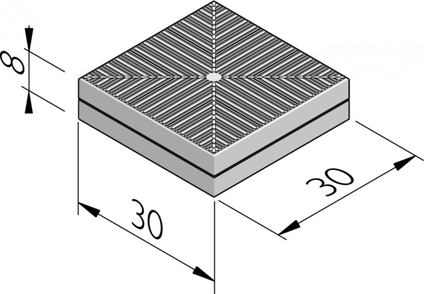 Rubberveiligheidstegels 30x30
