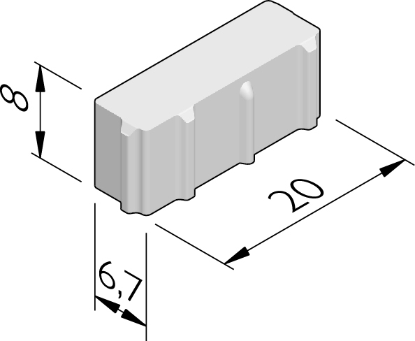 Hydro Brick stenen 20x6,7