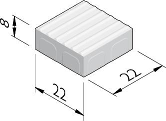 Geleidelijntegels 22x22