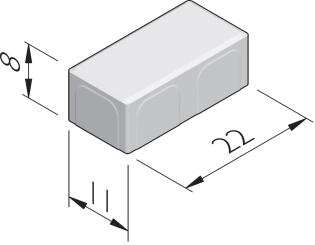 Poreuze betonstraatstenen 22x11