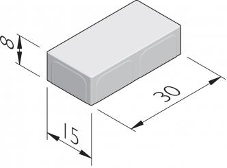 Fietspadtegels 30x15
