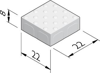 Noppentegels 22x22
