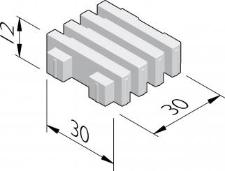 Grasbetontegels 30x30 met lijnmotief