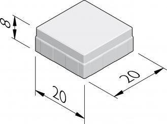Nevergreen stenen 20x20
