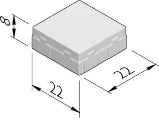 Nevergreen stenen 22x22
