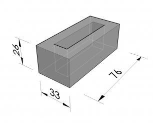 Sokkels vierhoekige nissen