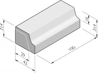 Bushaltebanden type P profiel 16