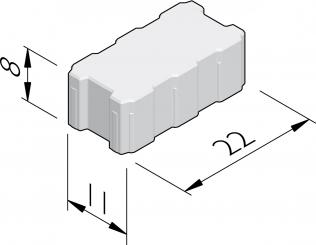 Betonstraatstenen met drainageopeningen