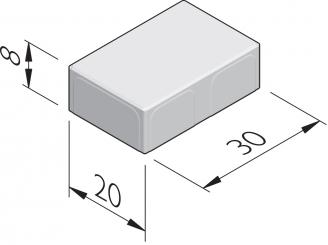 Poreuze betonstraatstenen